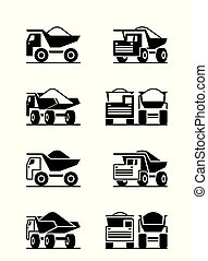 Heavy duty truck in different perspective - vector ...