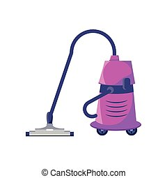 heavy duty vacuum cleaner on white background vector ...