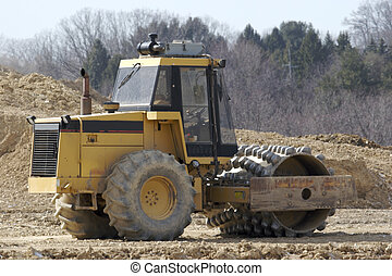 Heavy Equipment - Dirt Soil Compacter Roller or Grater