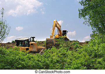 Heavy Equipment Strips Vegetation - Heavy equipment strips ...