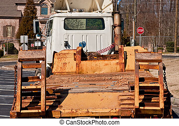 Heavy Equipment Trailer on Road