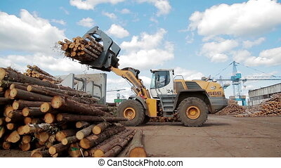 HEAVY EQUIPMENT TRUCK PICKER LUMBER FACTORY - Lumber...