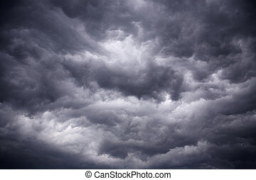 heavy gale black stormy clouds - The big powerful storm...