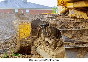 heavy illeték, földmunkás, felszerelés, szerkesztés, parkolt