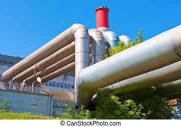Heavy Industry - Industrial tubes of Power Station Cooling...