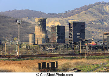 Heavy industry ruins - Ruins of a very heavily polluted...