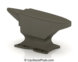 Heavy iron anvil isolated