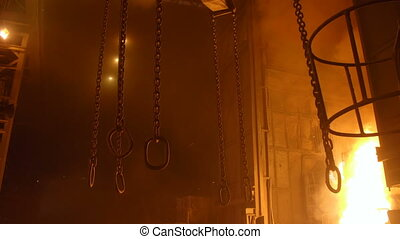 Heavy lifting chains by the blast furnance at a ...