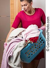 Heavy load of laundry