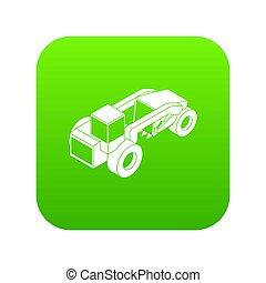 Heavy load truck icon green