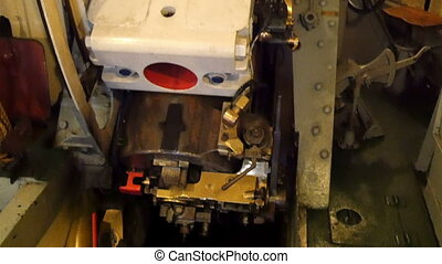 Heavy machineries found inside the Warship