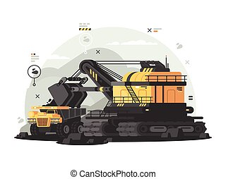 Heavy machinery for coal mining