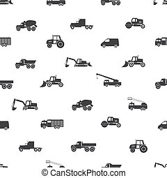 heavy machinery icons seamless pattern eps10