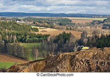 Heavy machinery - Mining equipment in the quarry, Czech ...