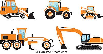 Heavy machines, set