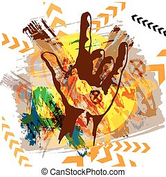 Heavy Metal Hand. vector background