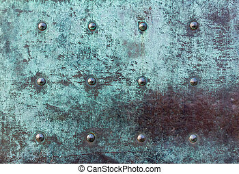 heavy metal iron door texture with patina