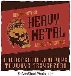 Heavy Metal Label Typeface Poster