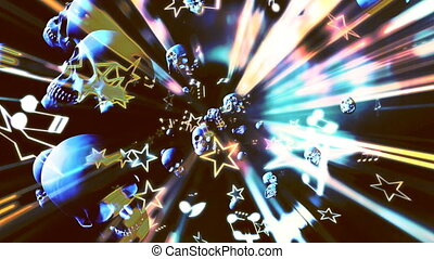 Abstract Heavy Metal Music Looping Background