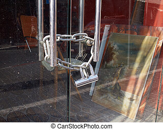 Heavy metal padlock