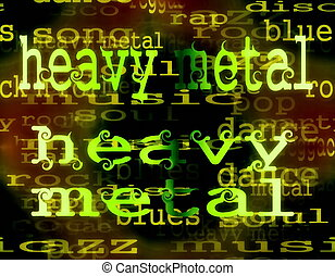 heavy metal word background
