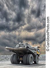 Heavy mining truck