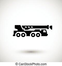 Heavy mobile crane icon