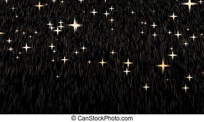 heavy rain drop gold and golden god star