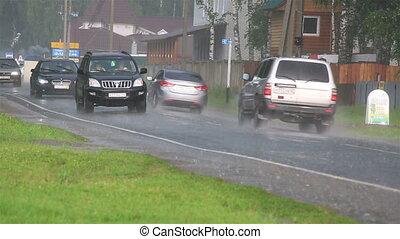 Heavy rain in the tourist area