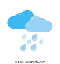 Heavy Rain - Raindrops, clouds, rain icon vector image. Can...