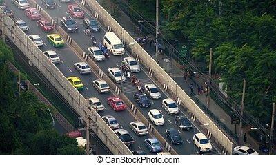 Heavy Rush Hour Traffic In Tropics
