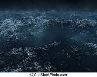 Heavy sea - Ocean scape, dark and heavy seas in the north...