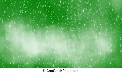 heavy snowstorm on green screen