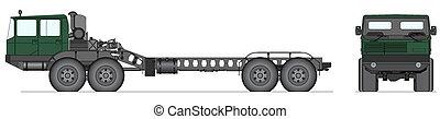 Heavy Soviet tank truck - Vector illustration of heavy tank...