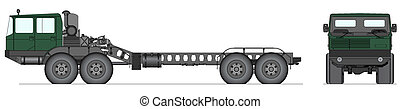 Heavy Soviet tank truck - Vector illustration of heavy tank...