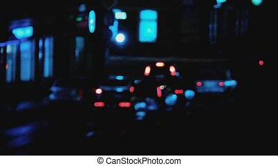 Heavy street traffic, abstract footage of unrecognisable...