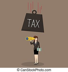 Heavy tax falling to careless business woman