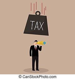 Heavy tax falling to careless businessman