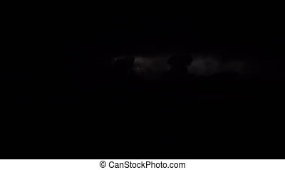Heavy thunder storm clouds at night - Heavy thunder storm in...