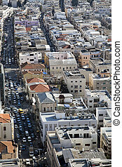 Heavy Traffic in the City - Tel-Aviv, Israel - February,...