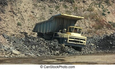 Heavy truck at the quarry. - Dump truck at the open cast ...