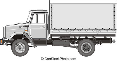 Heavy Truck - Available EPS-8 vector format separated by ...