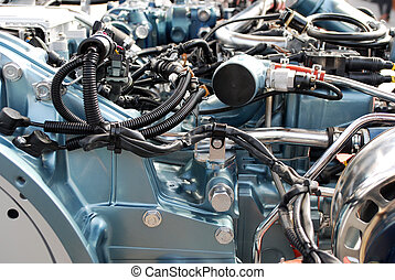 heavy truck engine detail transportation