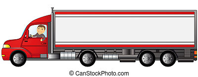 heavy truck with man with space for - heavy truck with ...