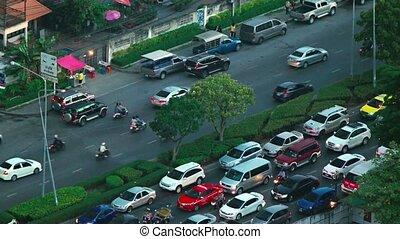 Heavy Urban Traffic on an Asian Highway. Video