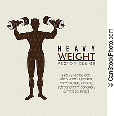 heavy weight  over beige background vector illustration