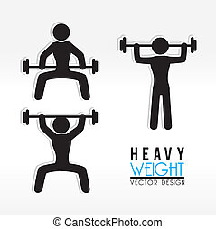heavy weight  over white background vector illustration