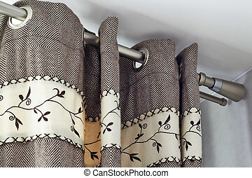 heavy woolen curtains with ring-top rail - heavy woolen...