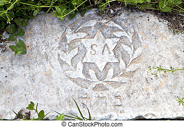Hebraic tombstone remains found at Thessaloniki city in...