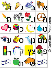 hebrew alphabet - Hebrew alphabet to teach children to read